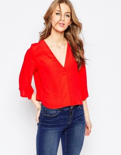 Asos Red Blouse