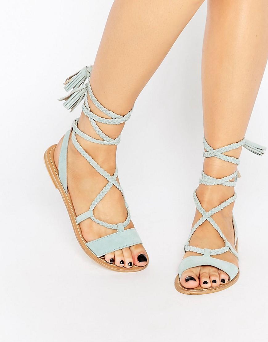 Asos Fleur Suede Tie Sandal