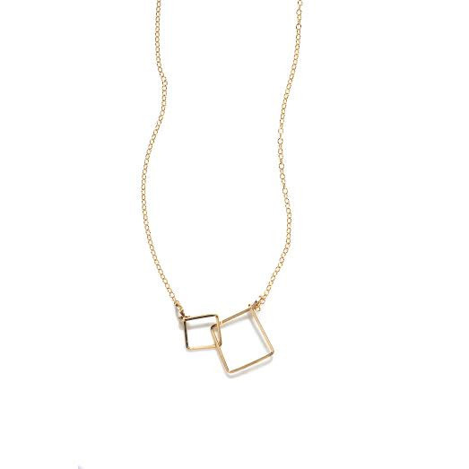 By boe square necklace