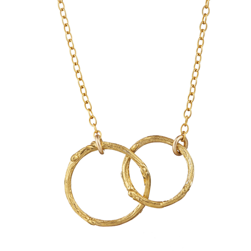 Chupi Gold Necklace two circles