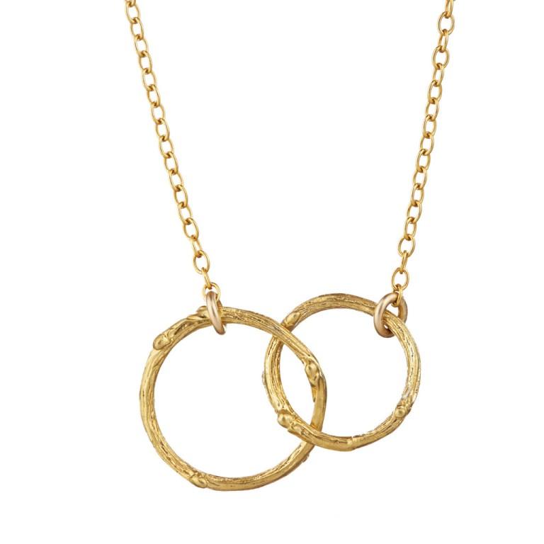 Chupi Gold Necklace two circles