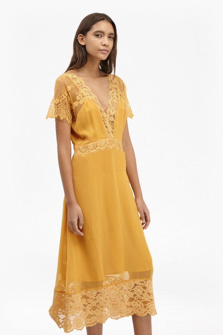 French connection mustard dress available 2 colours