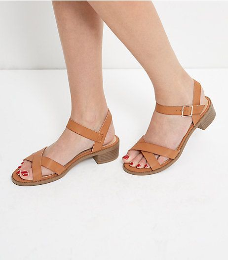 New Look Tan Cross Sandals 3 colours