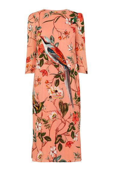 warehouse Bird Silk dress