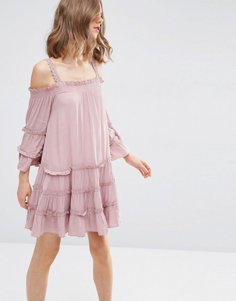 Asos Pink Bardot Dress