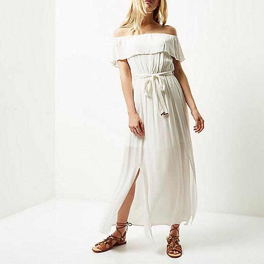 River Island Bardot Dress Cream