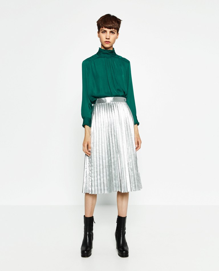 zara-silver-skirt