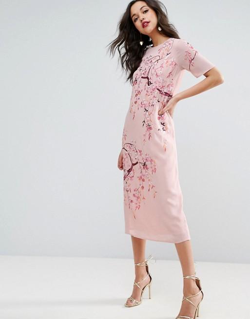 asos pink dress