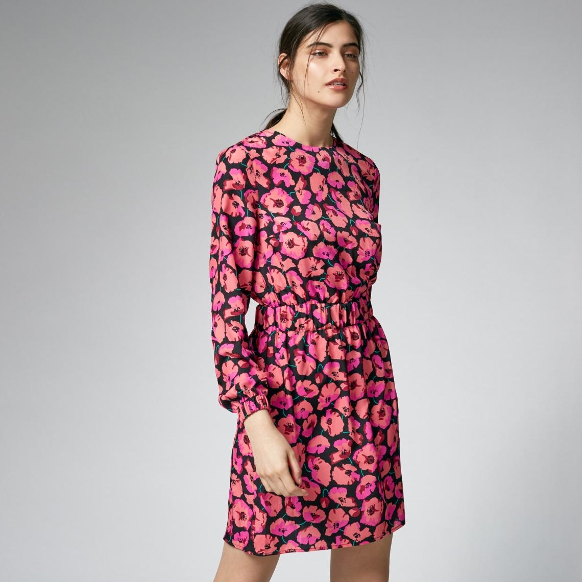 warehouse pink flower dress