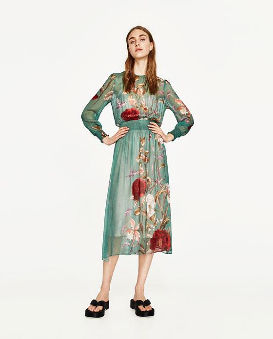 Zara Green Dress